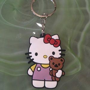 Hello Kitty Rubber Keychain